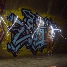 by Tres Keiper - Abstract Light Painting