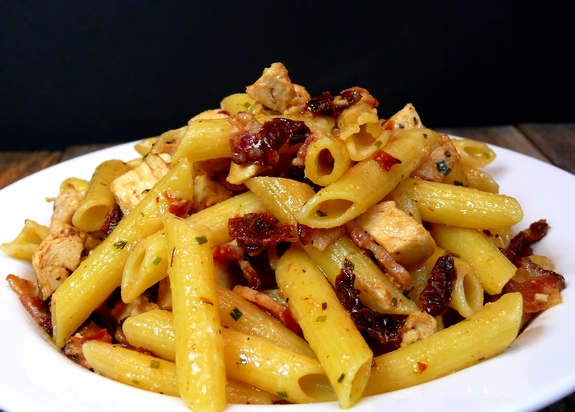 Penne With Popped Tomatoes And Bacon Recipes — Dishmaps