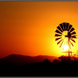 Windmill by Romano Volker - Landscapes Sunsets & Sunrises