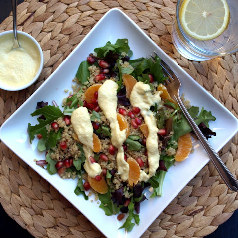 Winter Salad with Creamy Orange-Ginger Dressing