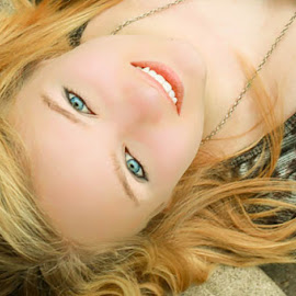 Close up by Marla Kile - People Portraits of Women ( senior portrait, steps, trinity, smile, close up,  )