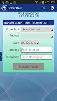 Screenshot of Washington State Bank Mobile