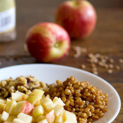 Brown Sugar Apple, Wheat Berry, & Yogurt Parfaits