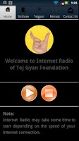 Screenshot of TGF Internet Radio