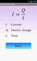 Screenshot of Electrical Formulas