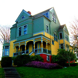 by Joey Mullins - Buildings & Architecture Homes ( charming, charm, old, colorful, haunted, house, cute )