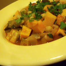 Sweet Potato, Chickpea and Eggplant Hotpot