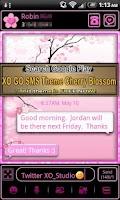 Screenshot of GO Contacts Cherry Blosm Theme