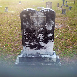 Old, old tomb stone by Terry Linton - City,  Street & Park  Cemeteries (  )