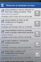Screenshot of Datafield, Forms and Surveys