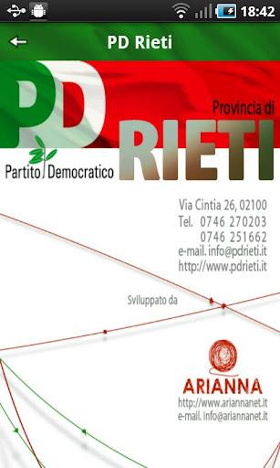 PD Provincia di Rieti
