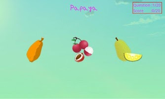 Screenshot of Learn Fruits with Bheem