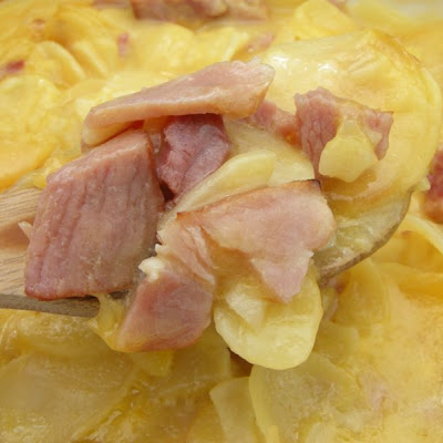 Embarrassingly Easy Ham and Potato Casserole
