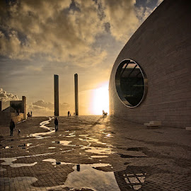 untitled by Luís Dias - Buildings & Architecture Other Exteriors ( champallimaud centre for the unknow, belém, sunset, lisbon, ccu )