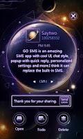 Screenshot of GOSMSPro GlarePlanet Popup Thx
