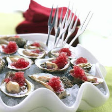 Oysters with Mignonette Ice