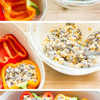 Chipotle Black Bean & Corn Stuffed Peppers