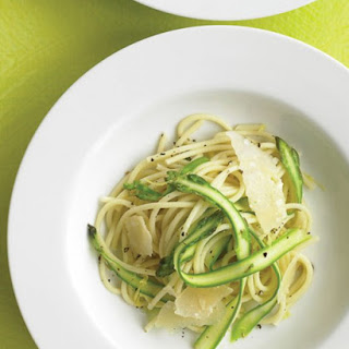 Spaghetti with Shaved Asparagus