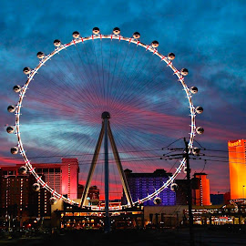 High Roller by Jim Antonicello - City,  Street & Park  Amusement Parks ( high roller, sky, strip, vegas, mohjt )