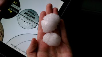 Screenshot of Hail Scale for Storm Spotters