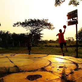 basketball sunset by Hendra Kira - Sports & Fitness Basketball