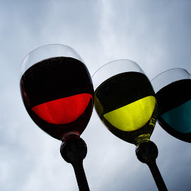 color drink by Renco Gotovac - Food & Drink Alcohol & Drinks ( red, color, colors, green, drink, glass, yellow, drinks,  )