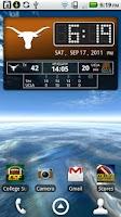 Screenshot of Texas Longhorns Live Clock