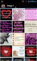 Screenshot of Mots D'amour Romantiques