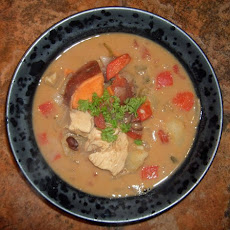 African Style Chicken Peanut Soup With Potatoes