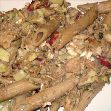 Pasta With Tuna, Artichokes and Peppers