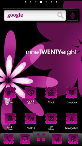 ADW Theme PinkyBubbles