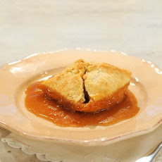 Apple Dumplings with Cider-Rum Sauce