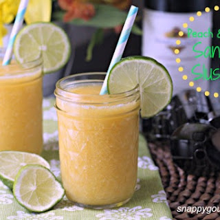 Peach & Honey Sangria Slushies, plus Giveaway!