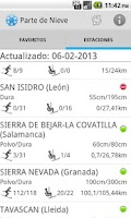 Screenshot of Spain Snow Report