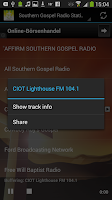 Screenshot of Southern Gospel Radio Stations