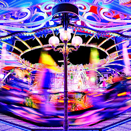 Carouselle by Robert Dumitru - City,  Street & Park  Amusement Parks ( amusement park, park, bremen, ischa freimaark, carousel )