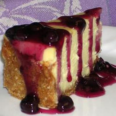 White Chocolate Blueberry Cheesecake