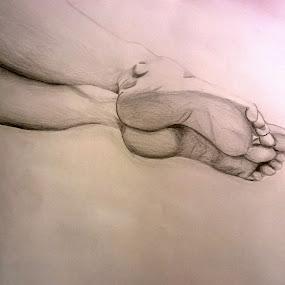 Legs by Viktória Nagy - Drawing All Drawing