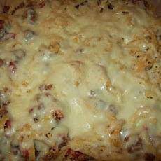 Spaghetti Bake With Meat Sauce & 3 Cheeses