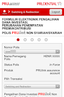 Screenshot of PRUaccess Mobile