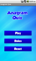 Screenshot of Anagram Quiz