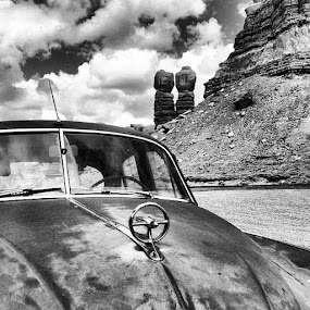Twin sisters in Bluff UT by Molly Doerner - Black & White Objects & Still Life