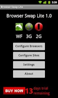 Screenshot of Browser Swap Lite