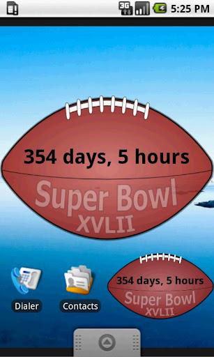Super Bowl XVLIII Widget