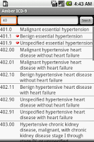 Screenshot of Amber ICD-9 2013