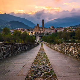 Bobbio by Luca Guido - City,  Street & Park  Vistas ( clouds, sky )