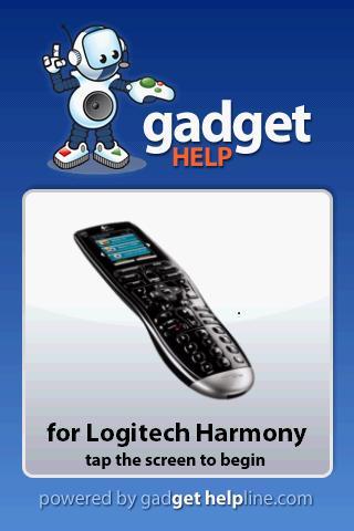Logitech Harmony Gadget Help