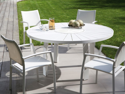 Acheter Table De Jardin Ronde En Aluminium Aspen Jati