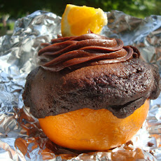 Chocolate Cakes Grilled in Orange Shells