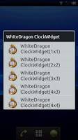 Screenshot of WhiteDragon ClockWidget